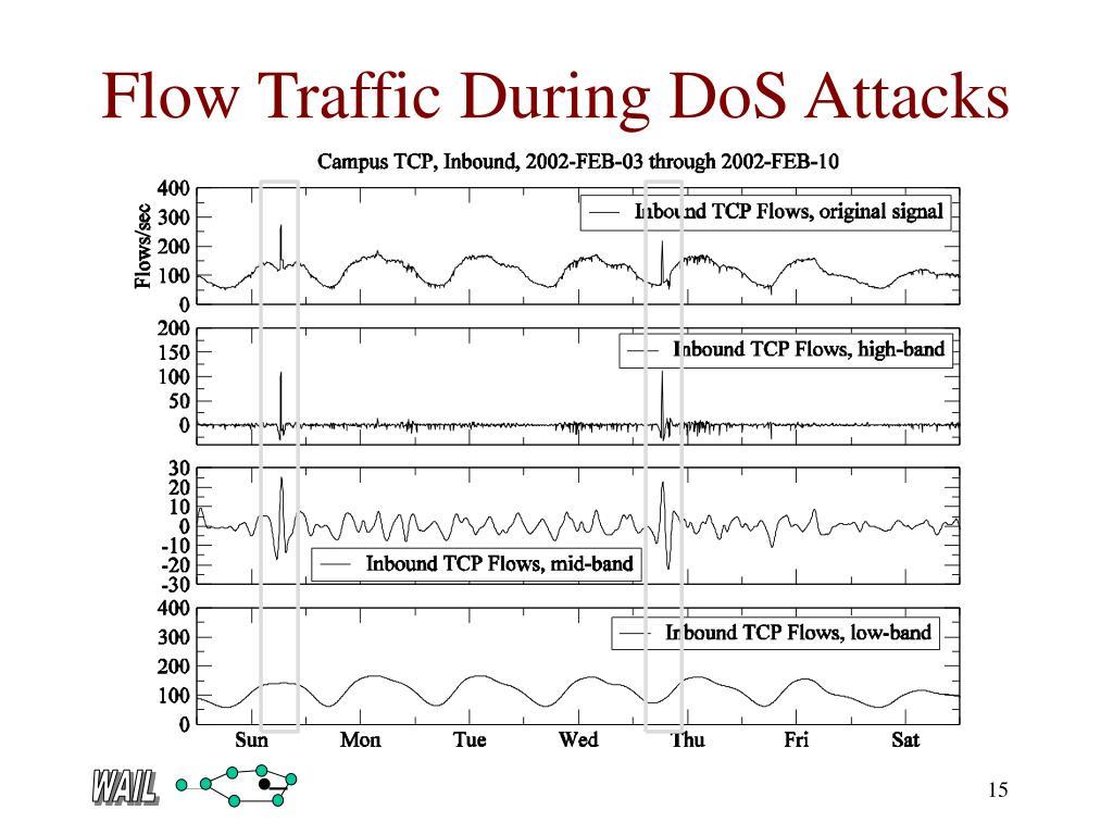 Flow Traffic During DoS Attacks