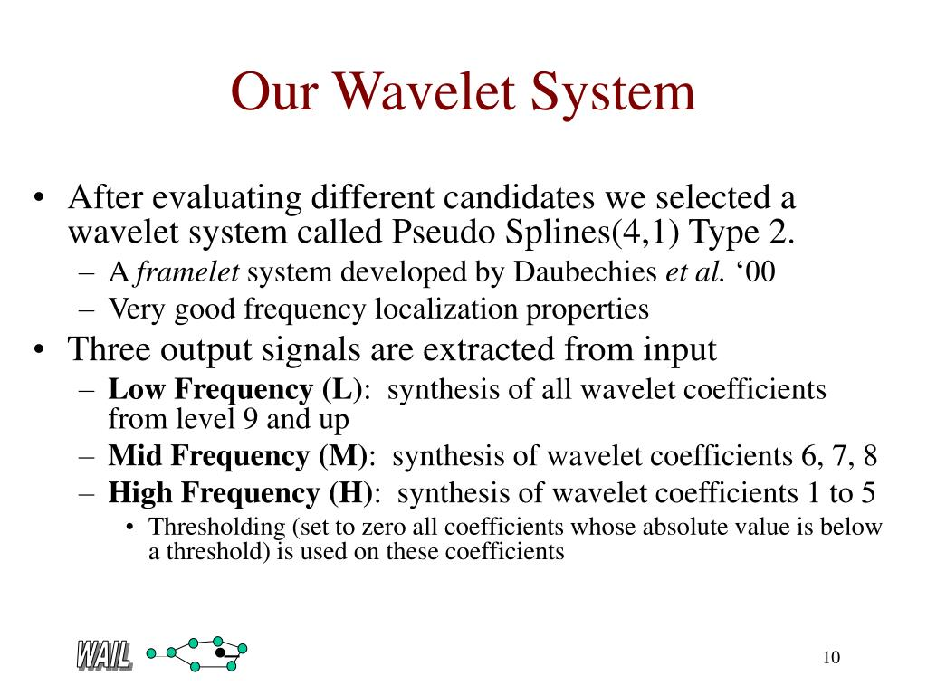 Our Wavelet System