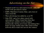 advertising on the net
