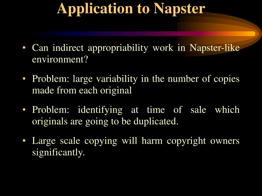 Application to Napster