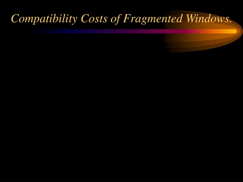 Compatibility Costs of Fragmented Windows.