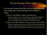 foreclosing netscape