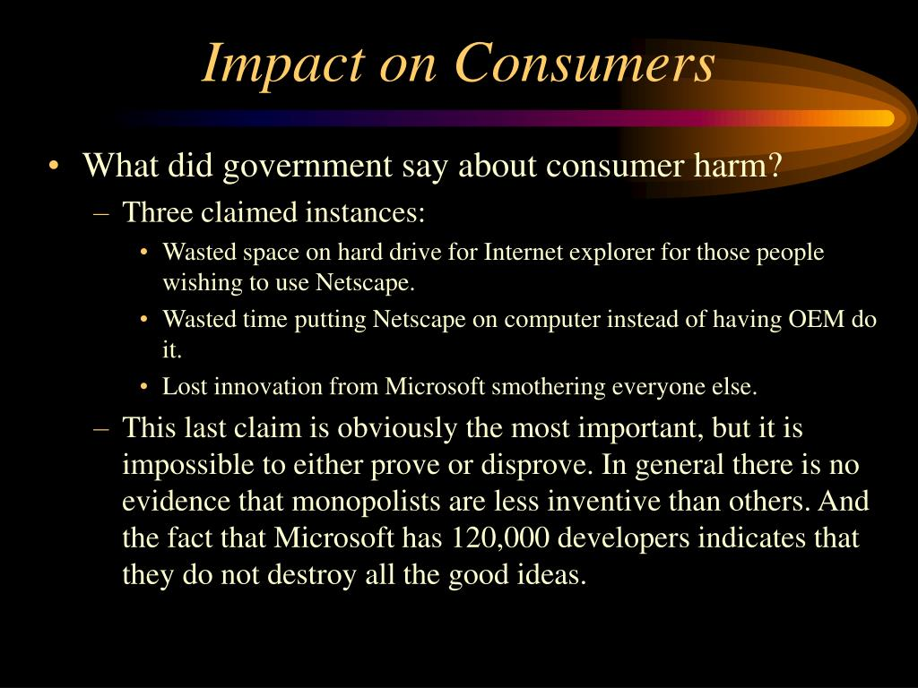 Impact on Consumers