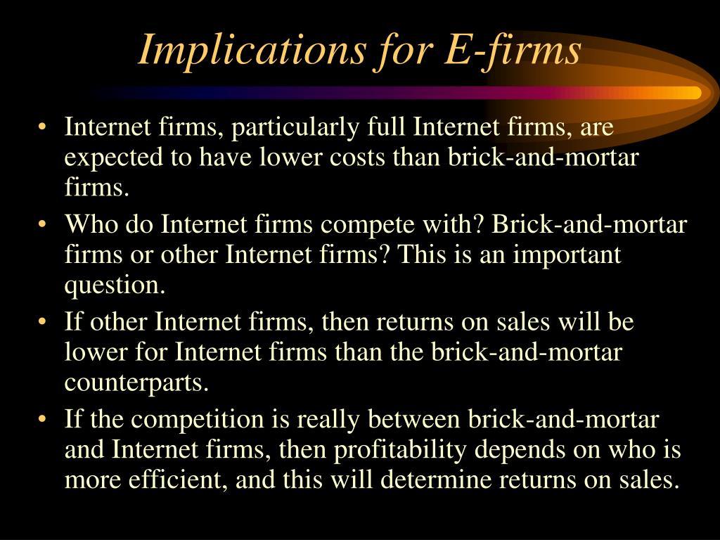 Implications for E-firms