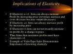 implications of elasticity