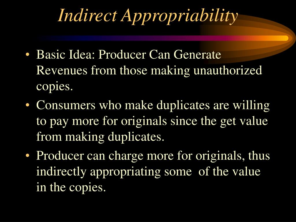 Indirect Appropriability