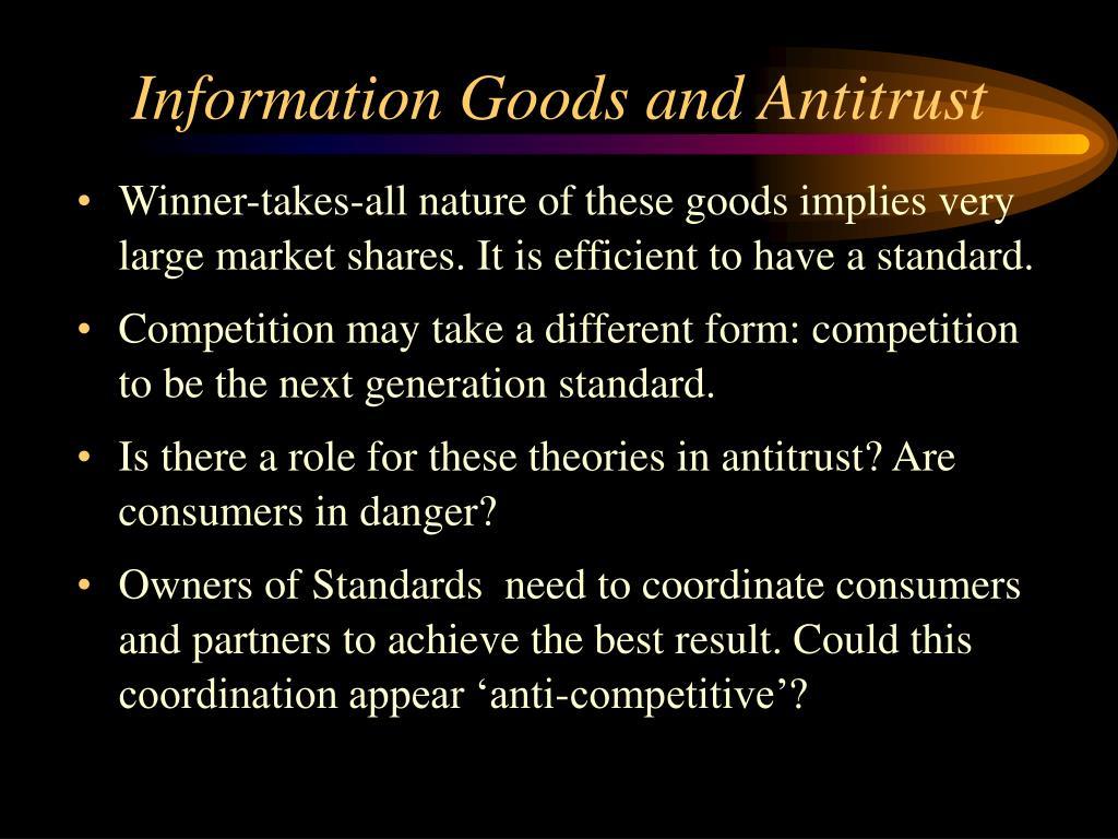 Information Goods and Antitrust