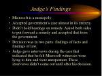 judge s findings
