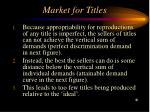 market for titles