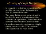 meaning of profit margins