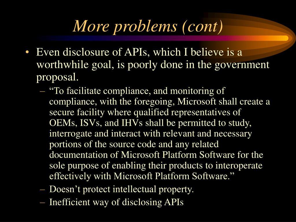 More problems (cont)