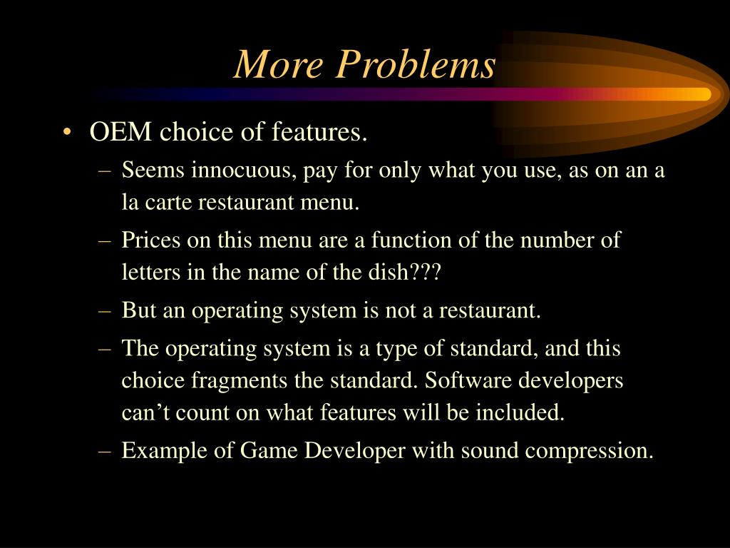 More Problems