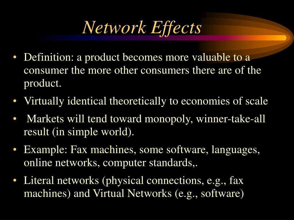 Network Effects