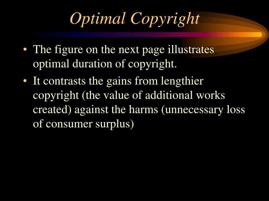 Optimal Copyright