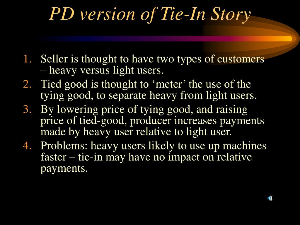 PD version of Tie-In Story