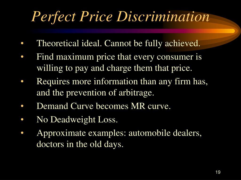 Perfect Price Discrimination