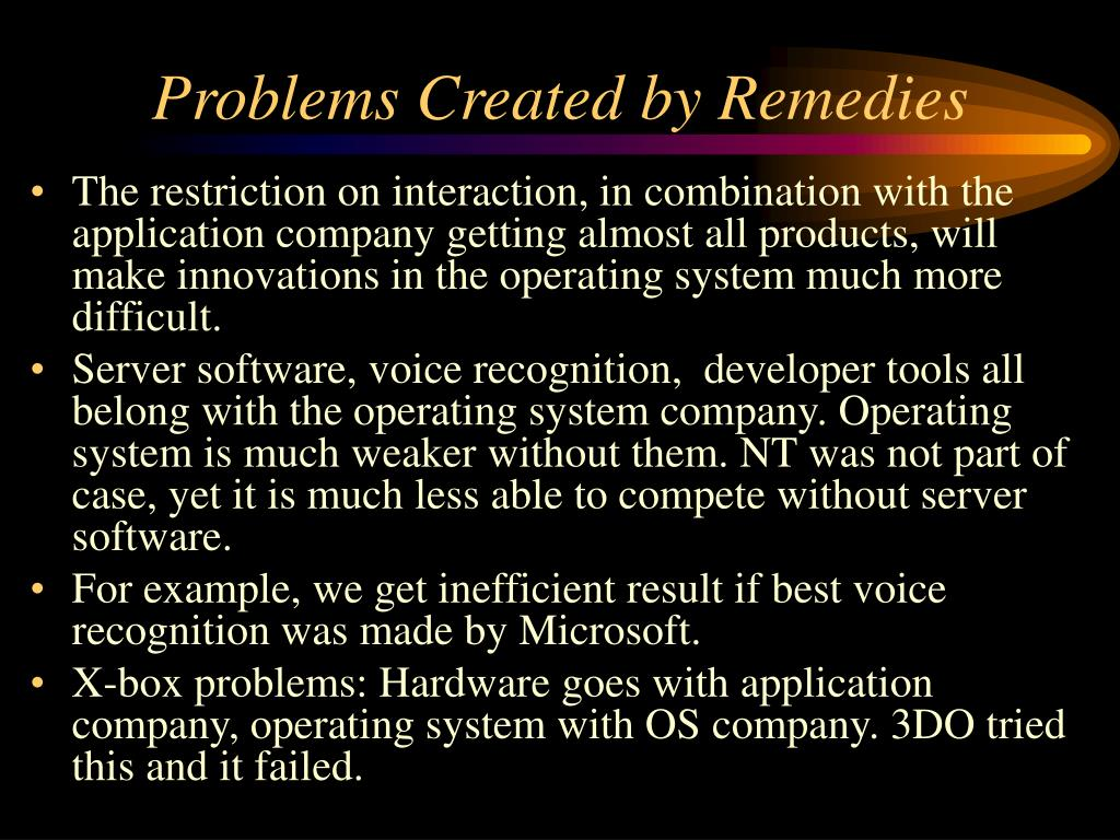Problems Created by Remedies