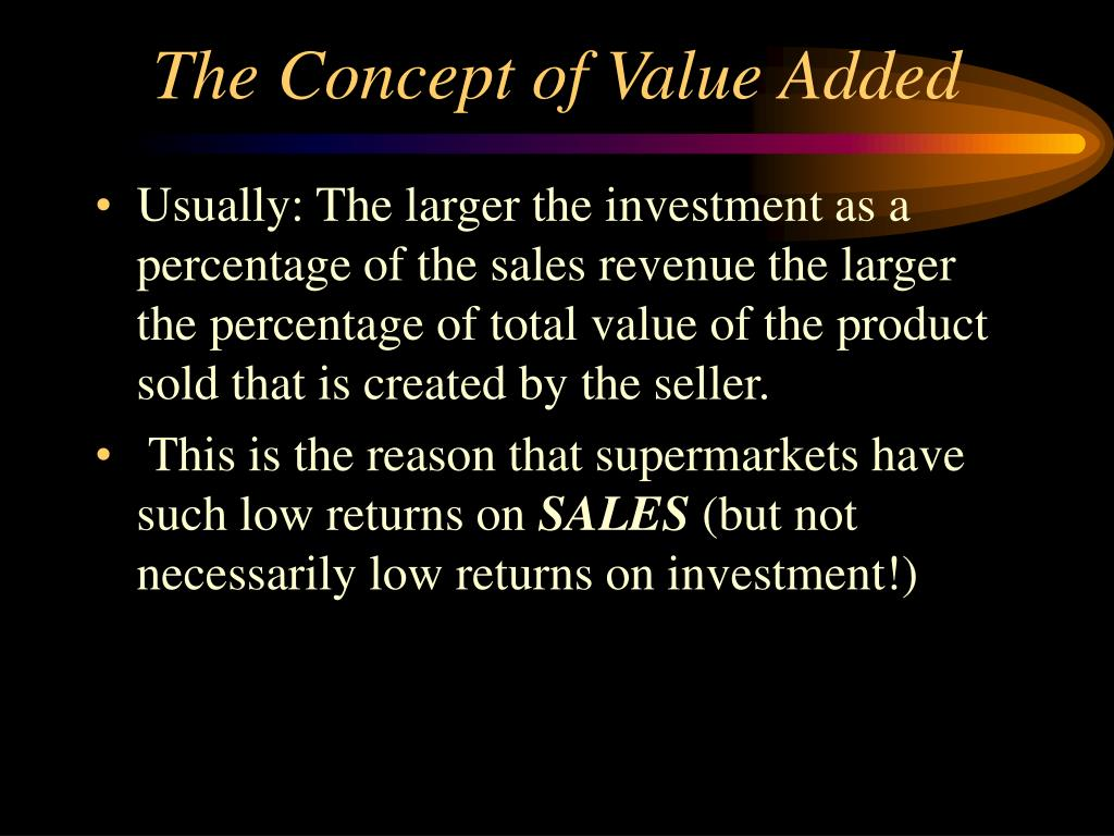 The Concept of Value Added