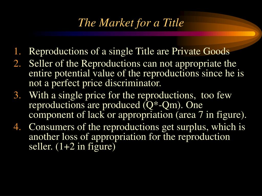 The Market for a Title