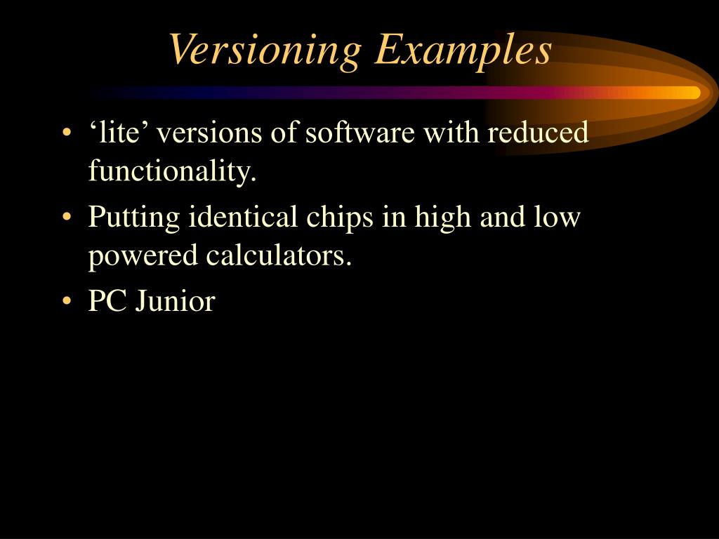 Versioning Examples