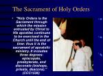the sacrament of holy orders
