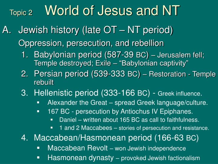 topic 2 world of jesus and nt n.