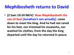 mephibosheth returns to david