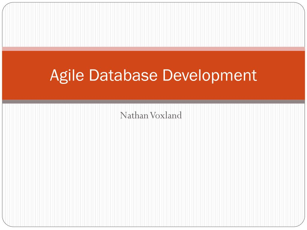 agile database development l.