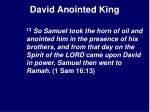 david anointed king22