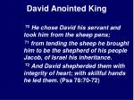 david anointed king29