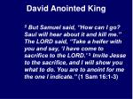 david anointed king5