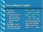 corroding copper