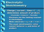 electrolytic stoichiometry