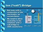 ion salt bridge