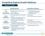 compelling organic growth platforms14