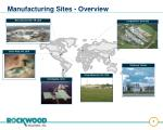 manufacturing sites overview