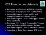 cce project accomplishments