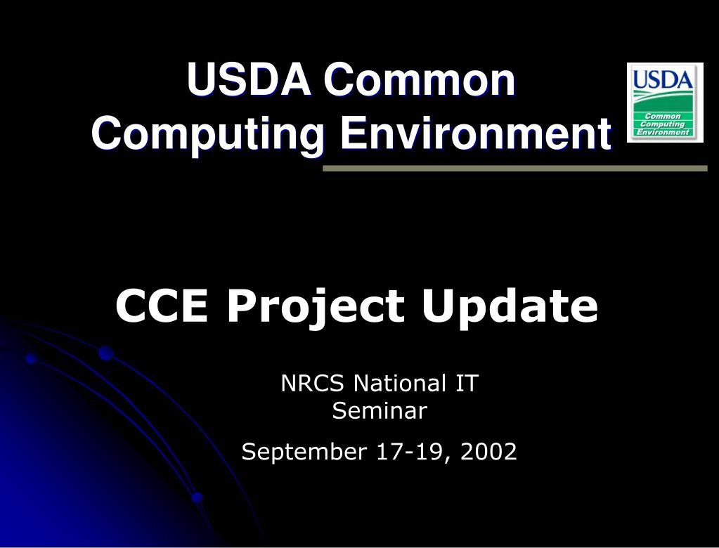 usda common computing environment l.