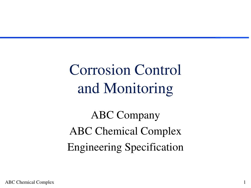 corrosion control and monitoring l.