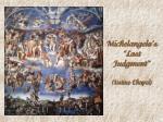 michelangelo s last judgment sistine chapel