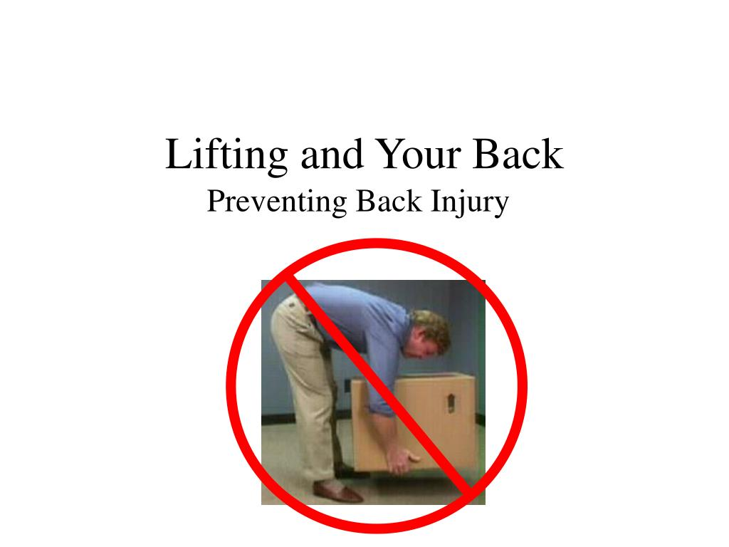 lifting and your back l.