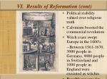 vi results of reformation cont