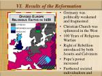 vi results of the reformation