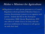 maher v minister for agriculture
