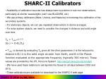 sharc ii calibrators