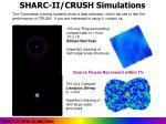 sharc ii crush simulations