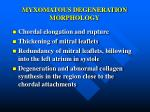 myxomatous degeneration morphology