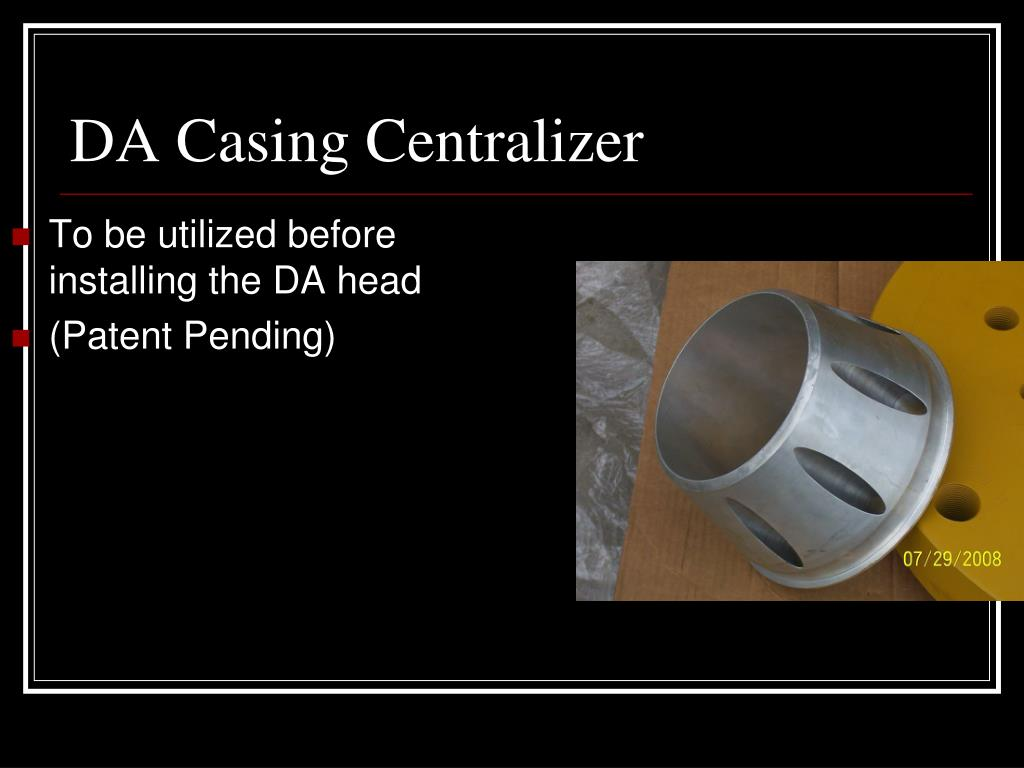 To be utilized before installing the DA head