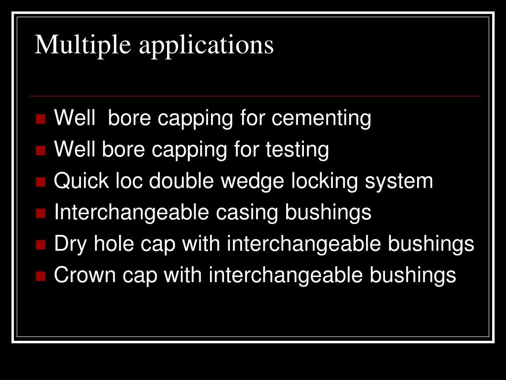 Multiple applications