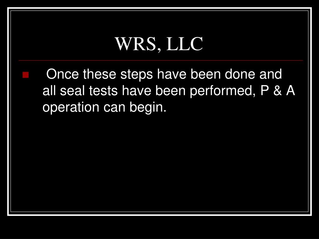 WRS, LLC